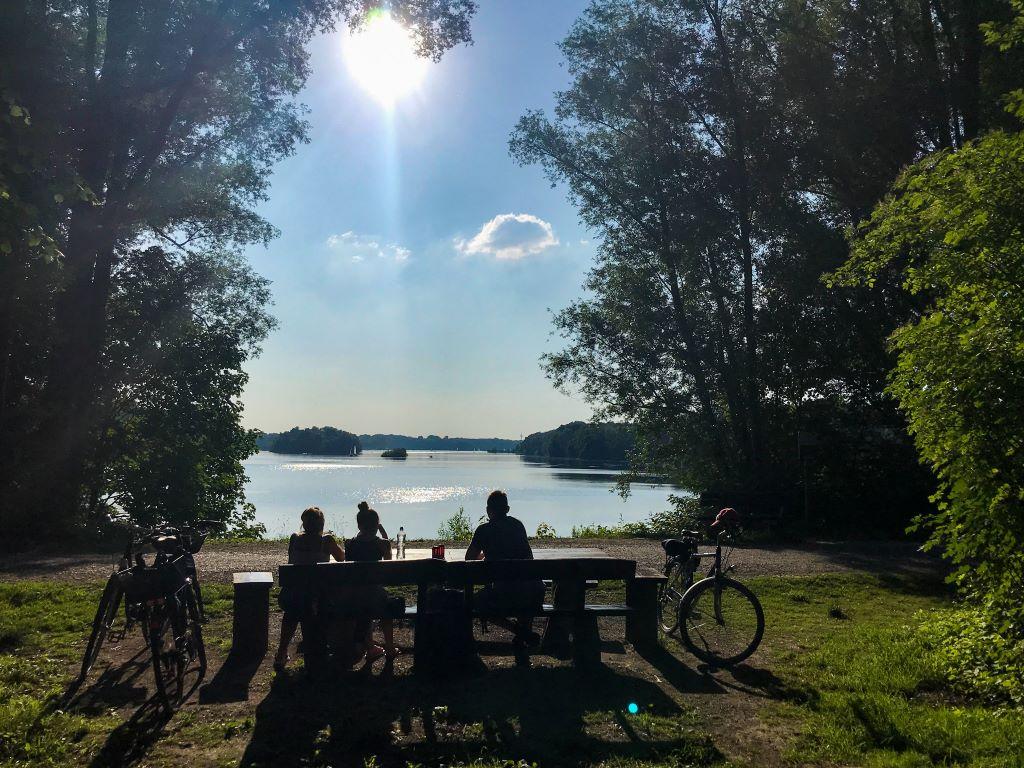 Rad-Ausflug zum Unterbacher See